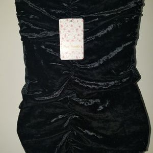 FREE PEOPLE TUBE TOP STRECH VELOUR
